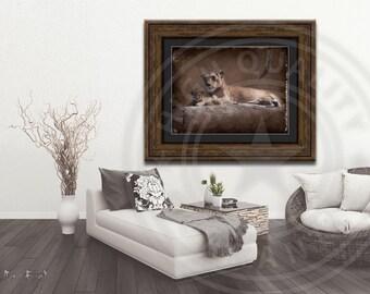 Lion Mama with Cub