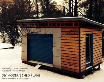 DIY Modern Shed Plans
