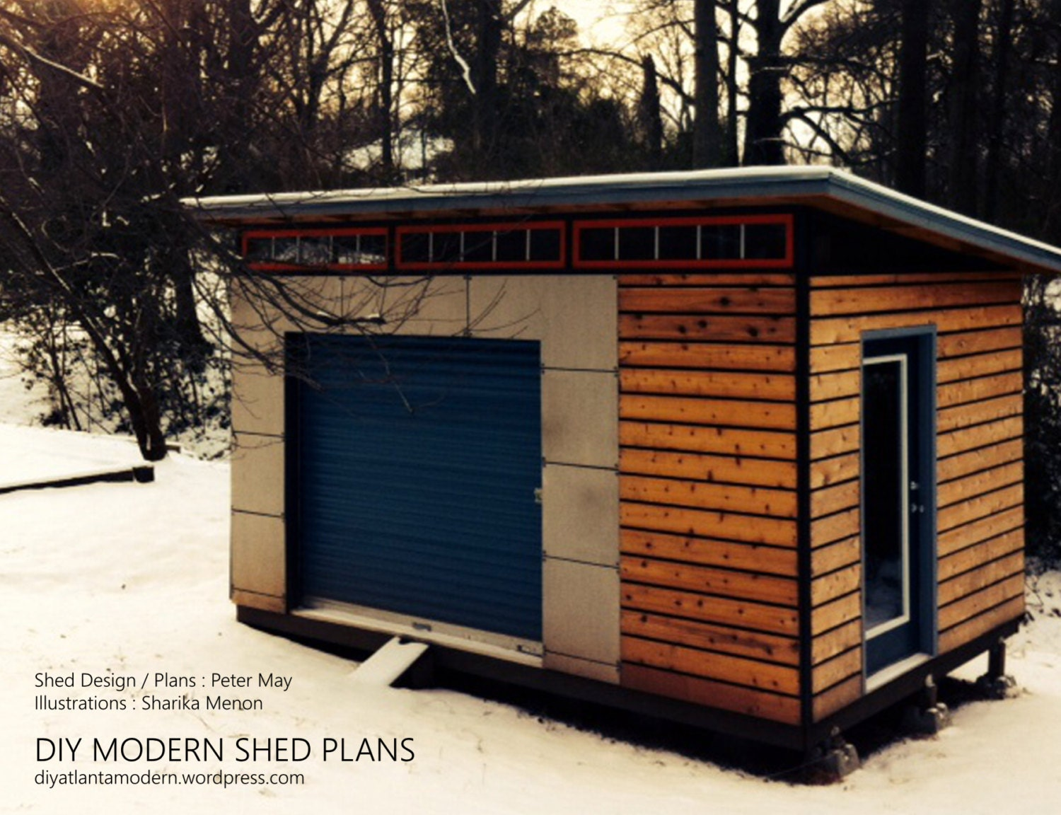 Diy modern shed plans from diyatlantamodern on etsy studio for How to build a modern shed