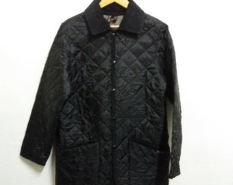 Vintage Lavenham Quilted Jacket button down/fashion designer/medium/casual/made in england