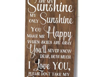 Exceptionnel You Are My Sunshine | Etsy