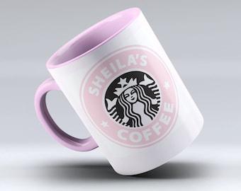 Personalized Starbucks Mug, Starbucks Coffee, Starbucks mug, Starbucks Cup, Starbucks, Custom Starbucks Mug, Pink Mug Design!