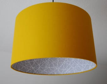 "Lampshade ""Curry Yellow Scribble"""
