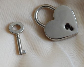 Add-on - padlock - heart shaped lock for BDSM kitten play collar ddlg kink collars