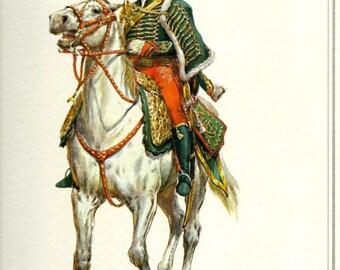 Vintage military horse print 1