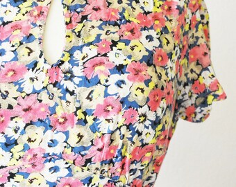Vintage romantic flower dress