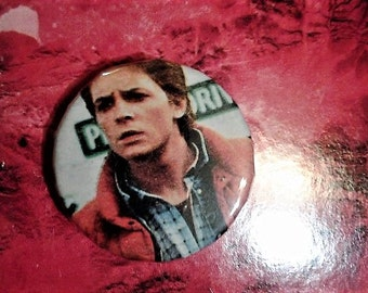 michael j fox back to the future 1 inch pin//marty mcfly//back to the future//pins