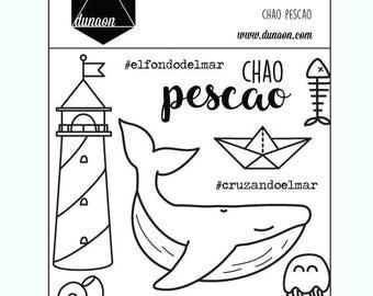 "Acrylic stamps ""Bye pescao"""