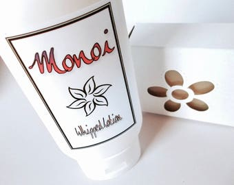 Monoi Soap and Lotion Gift Set - Whipped Body Lotion - Cold Process Soap - Tiare - Gardenia - Monoi Oil - Organic Sunflower Oil - Almond Oil