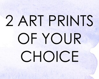 Choose Your Own Art Print Set of 2, Art Print Set, Fashion Print, Watercolor Print