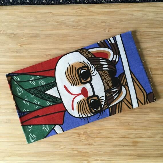 Kendo Tenugui, Japanese Cotton Tenugui - Manekineko Samurai Duel Print from Kendo Girl