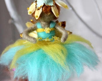 Wool felt Waldorf-inspired fairy/angel decoration