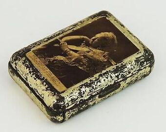 Antique Victorian Jahncke's Patent Tin Needle Case Tin - 1897