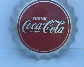 CocoCola Large Advertising Sign Bottle Cap advertising