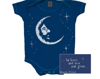 Jerry Garcia in the Moon baby snap up bodysuit/ infant/ Onesie/creeper/romper