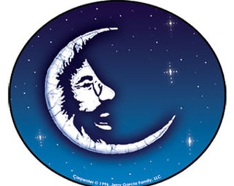 Jerry Garcia Sticker/ Jerry Moon/grateful dead