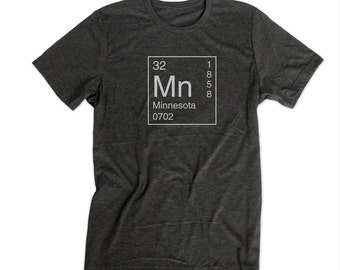 Minnesota State Pride Shirt - Inspired by the Periodic Table of Elements