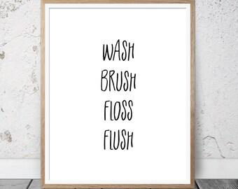 Bathroom wall decor, bathroom decor, bathroom sign, bathroom art, bathroom wall art, restroom sign, restroom decor, wall art print, download