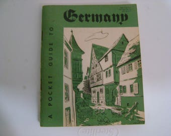 vintage 1956 a POCKET GUIDE to GERMANY issued by department of defense booklet