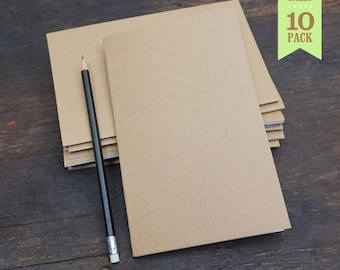 Bulk notebooks, 5x8 Inches, kraft notebooks, sketchbooks, journal, blank notebook, bulk notebook, plain notebook, blank pages