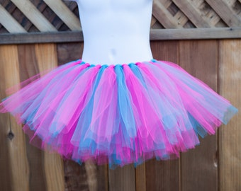 Dark Pink and Turquoise Tutu/Trolls Tutu/Poppy Tutu - Other Colors Available