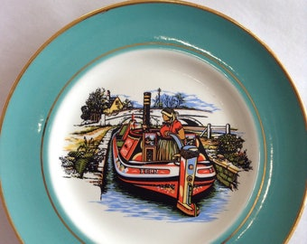 Vintage Pall Mall Ware Narrowboat Plate.