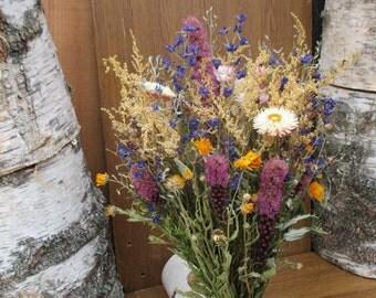 Dried flower bridal bouquet, Bridal bouquet, Rustic bridal bouquet, Wedding bouquet, Rustic wedding, Wild flowers bouquet, Meadow flowers