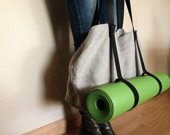 Yoga Weekener Linen and Leather