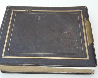 Antique Early Victorian Photo Album CDV and Tintype Photos Sepia