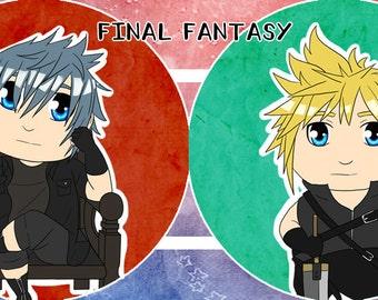 Final Fantasy Badge Set