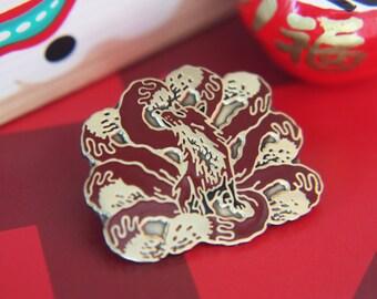 Kitsune lapel pin (9 tailed fox)