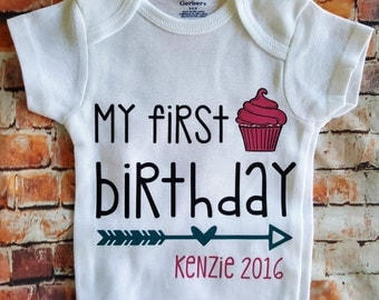Personalized My first Birthday bodysuit
