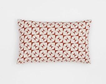 Mira Handscreen Printed Cushion Cover - Indian Rust 30x50cm