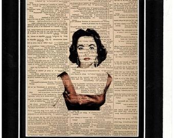 Dictionary art Elizabeth Taylor