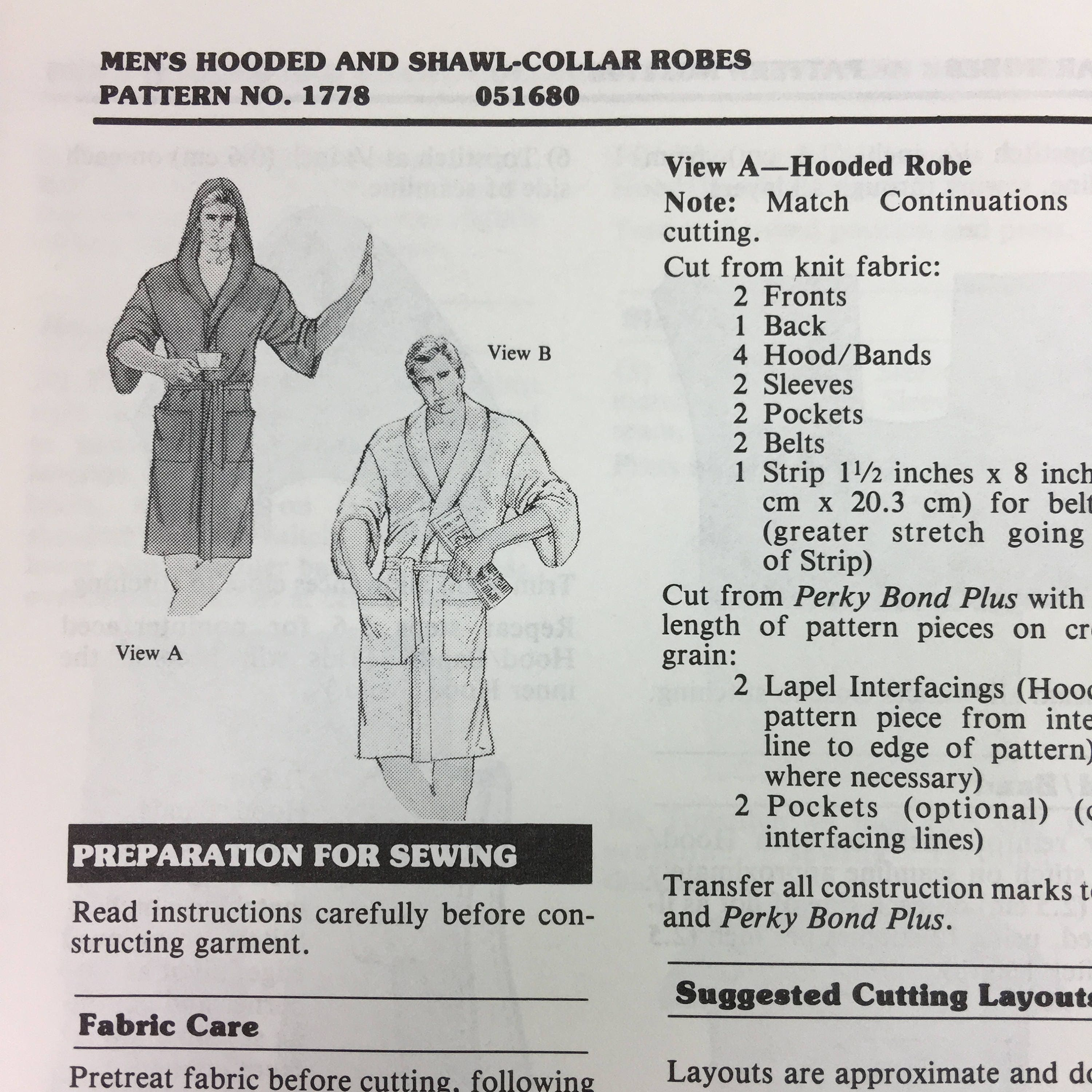 Stretch and sew 1778 sewing pattern mens hooded and shawl collar get shipping estimate jeuxipadfo Choice Image