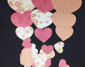 HEART Die Cut Shapes/ Embellishments- various sizes