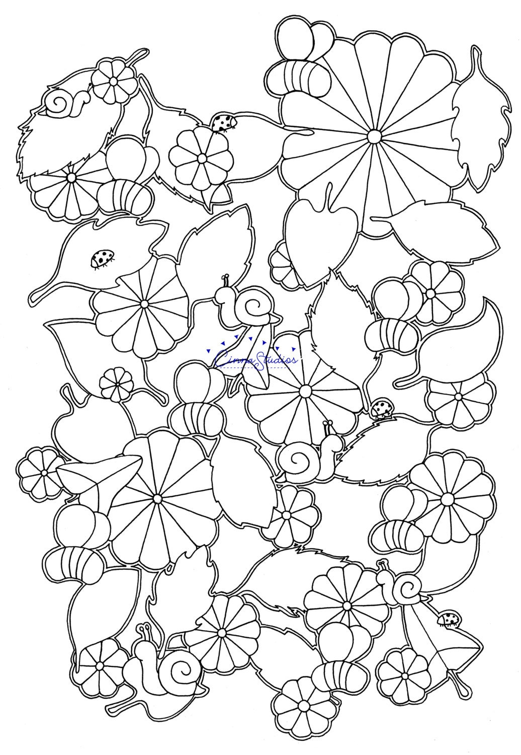 bees ii coloring page coloring download printable page