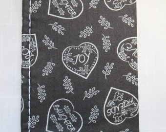 Handmade Heart Fabric Covered Notebooks with Love you to the Moon & Back Ribbon