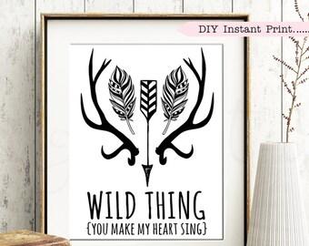 WILD THING Nursery Print - Baby Gift | Baby Shower | Nursery Decor