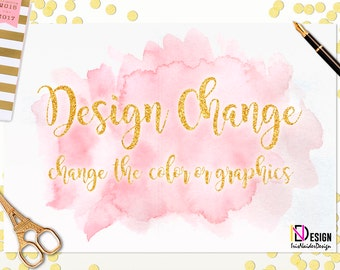 Design Change,Change the color, Change the graphic of any existing invitation in the shop