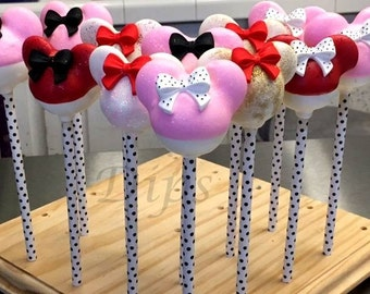 Minnie Mouse Silhouettes Cake Pops