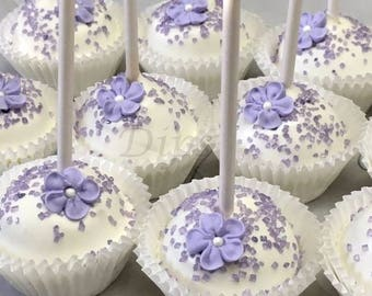Cake Pops, Lavender, Bridal Shower, Wedding, Anniversary Party