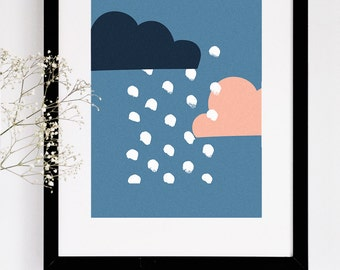 Illustrated Nursery Art Print - Cloud no. 3