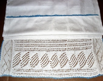 Runner D)  Table Runner.  Crocheted Edge.