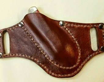 Leather Pancake Knife Sheath