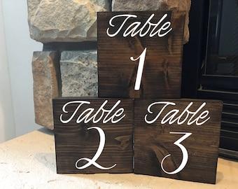 Wedding Table Numbers/Table Numbers/Rustic Wedding/Wood Table Numbers/Summer wedding/Fall wedding/Winter wedding/Rustic table numbers