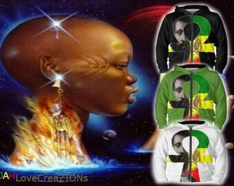Rasta Hoodie Selassi Ankh
