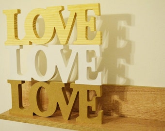 Wooden Love signs / Wedding decoration / wooden love gift / wedding signs