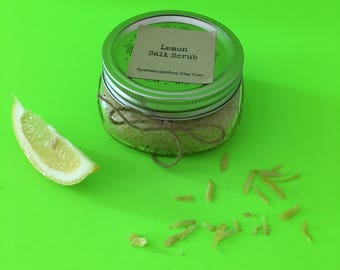 Lemon Dead Sea Salt Scrub 8 oz.