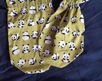 Cute panda dice bag purse